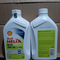 OLI SHELL HELIX ECO SAE 0W-20 FOR GASOLINE ENGINES LCGC ISI 1 LITER