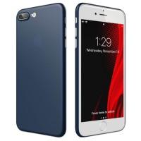 ASENARU iPhone 7 8 Plus Case - Super Slim Signature Casing - Navy Blue