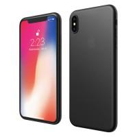 ASENARU iPhone XS Max Casing - Super Slim Signature - Pitch Black