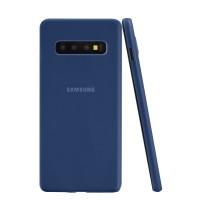 ASENARU Samsung Galaxy S10 Case - Super Slim Signature Casing Navy Blu