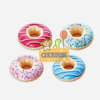 Balon Foil PVC Inflatable Cup Holder Kolam Pool Doughnut / Donat