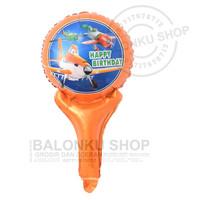 Balon Foil Tongkat Planes Pewasat / Balon Pentung Planes Pesawat