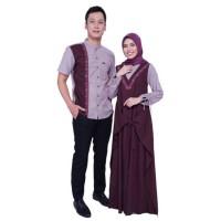 Sarimbit Olive Elzatta Hijab Baju Couple Muslim