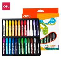 deli pensil warna crayon oil pastel 24 warna