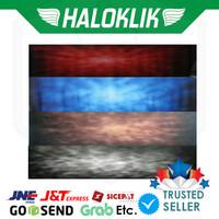 Background Kaos Abstrak 3x6m 3x6meter - Abstrak Biru