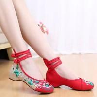 sepatu flat ballet retro shoes import remaja dewasa anak kekinian