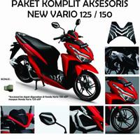 Paket Komplit Original Aksesoris New Vario 125 150 2018 2019 7 Item