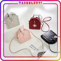 TK W091 Tas Selempang Love Fashion Elegan Sling Bag Mini Wanita Korea