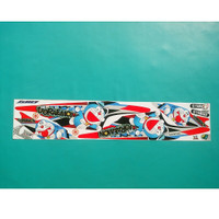 Stiker striping motor mio sporty doraemon merah abu