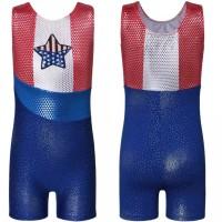 Baju Senam Gymnastic Rhythmic Leotard Tank Jumpsuit Anak American Star
