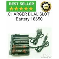 Authentic AWT Charger Dual Slot Baterai Dekstop Vape Battery 18650 - Hitam