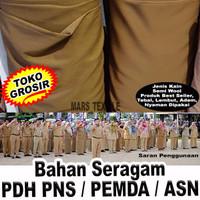 TOKO GROSIR - Kain Bahan Seragam PNS PDH PEMDA ASN Warna Khaki Kheki