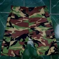 Celana Pendek Cargo Loreng x Uniqlo Alpha Industries Avirex Camo Army