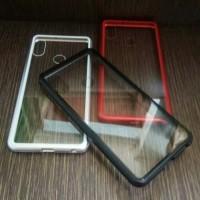 Case Magnet Anti Baret Cover Metal Xiaomi Redmi Note 5 Pro / Note 5pro - Merah