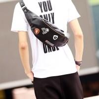 Tas Selempang Pria / Slempang Kulit Pria Waist Bag Import 227 Terbaru