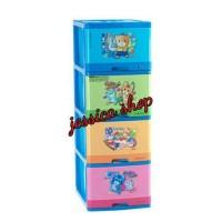 Lemari Plastik Lion Star / Container Laci Excel L4 Susun 4 Diskon