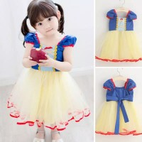 Baju Gaun Dress Cosplay Anak Bayi Snow White