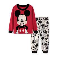 Piyama Anak Cute Mickey Mouse, Red WB0018 100%