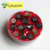 Cokelat praline toples 500gr & Paket 10 pcs Cokelat Bar 35gr dgn isian
