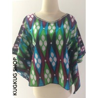 Blouse Batik Wanita Model Kelelawar - Baju Batik Atasan Wanita