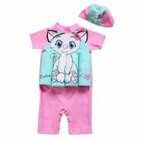 Baju Renang Anak Perempuan Model Pelampung Kitty