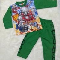 Baju Tidur Piyama Anak Laki Keren 2-4 Thn Motif Ultraman