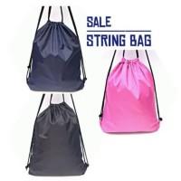 Tas Serut Ransel Goodie Tote Bag String Bags Polos Hand Souvenir Pesta