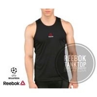 NEW RBK Kaos Running / singlet REEBOK baju gym fitness training pria