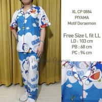 Piyama Size L Doraemon Motif Lucu CP Lengan Pendek Wanita XLCP 0884