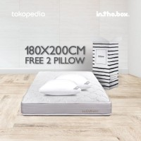 Inthebox KASUR SPRING BED IN THE BOX King size 180x200 free 2 bantal
