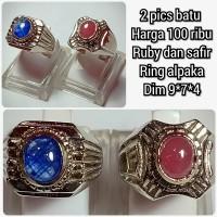 cincin batu permata Ruby blue safir