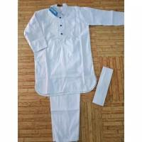 santi colection Baju Koko Anak Turki Pakistan Putih Polos New Motif