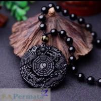 Kalung Batu Black Onyx Asli