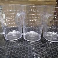 Gelas plastik bening 500 ml seperti kaca beling gelas arcylic