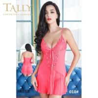 TALLY Bj 010 Baju tidur Seksi lingerie Bahan Lace Brokat