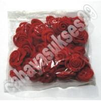 Kancing Shanghai Merah Bunga Rose Aksesoris Souvenir Baju Cheongsam