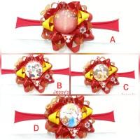 Bandana Bayi Baby Headband Flower Imlek CNY Nylon USA