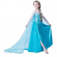 baju anak dress kostum princess disney frozen elsa usia 2-6 tahun