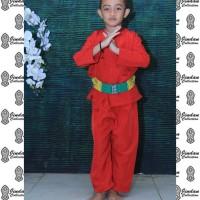 Setelan Baju Pangsi Betawi Anak dan Sabuk