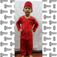 Setelan Baju Pangsi Betawi Anak dan Peci