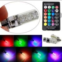 T10 Jelly Lampu Senja LED RGB Remote SMD warna aksesoris mobil motor