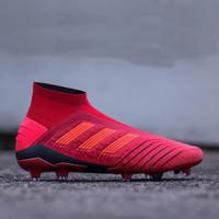 Sepatu Bola Adidas Predator 19+ FG - Red Black