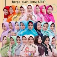 Hijab jilbab anak sekolah bergo plain laura kids miulan