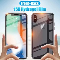 HYDROGEL IPHONE X ANTI GORES DEPAN BELAKANG FULL COVER