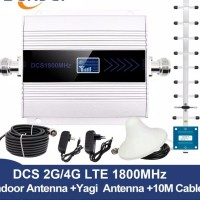 Penguat Sinyal HP WiFi 2G 4G LTE DCS 1800Mhz FullSet Antena Jamur+Yagi