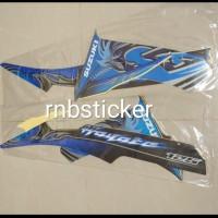 stiker striping stripping motor suzuki hayate hitam biru