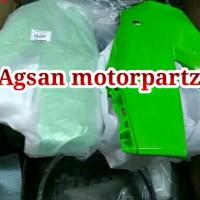 fairing atas kanan kiri sepasang ninja 250 rr mono hijau ori abc 344