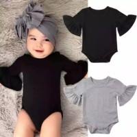 romper bayi perempuan warna BLACK atau GREY imut