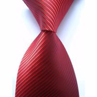 Dasi MERAH TUA Panjang Pria Motif Salur - Lebar 3 inch ( 7 - 8cm)