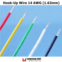 14 AWG PVC Tin Plated Copper Hook-Up Wire kabel serabut tembaga silver